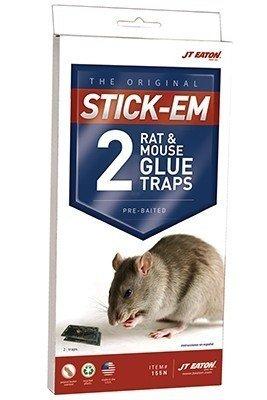 JT Eaton 111-00PRE6 Stick-Em Pre-Baited Rat/Mouse Size Peanu