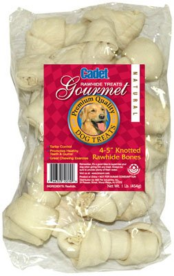Ims Trading 10010 Gourmet Dog Treats, Rawhide Bone, 4-5-In., 1-Lb. - Quantity 10 ()