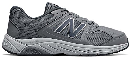New Balance Men's 847V3 Walking Shoe, Grey, 12 2E - Mesh Leather Sneakers