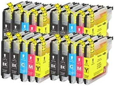 Bramacartuchos - 20 X Cartuchos compatibles NON OEM BROTHER LC985, DCP J125, DCP J315W, DCP J515W, DCPJ125, DCPJ315W, DCPJ515W Brother MFC J265W, MFC ...