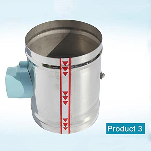SWEETDAY 1Pc 5 Inch Stainless Steel Air Damper Valve Hvac Electric Air Duct Motorized Damper For 5 Inch Ventilation Pipe Valve 220V