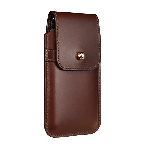 Blacksmith-Labs Barrett 2017 Premium Genuine Leather Swivel Belt Clip Holster for Apple iPhone 6/6s/7 (4.7 inch screen) for use with no cases or covers - Brown Cowhide/Gold Belt Clip by Blacksmith-Labs