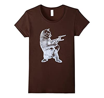 Gunslinger Kitty - Cat T-Shirt- Cat Lover- Funny Gun Tee