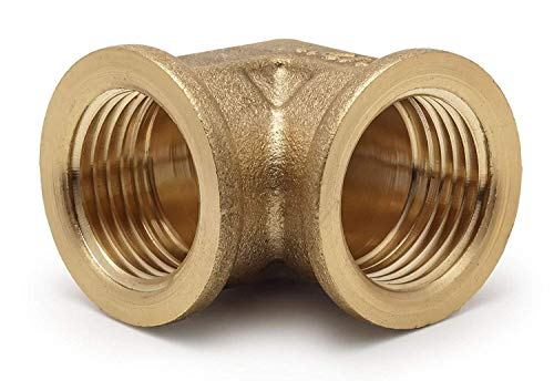 Brass Elbow Pipe Fittings 90 Degree Elbow for Repair, 1/2