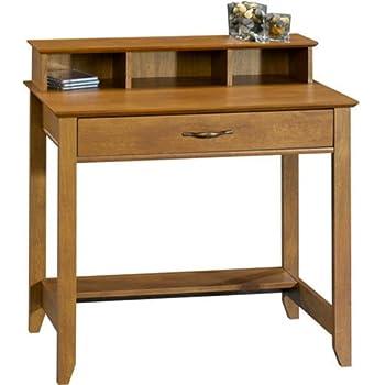 Amazon Com Winsome Wood Writing Desk Honey Kitchen Amp Dining