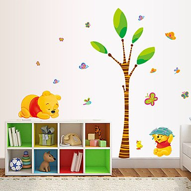 XGHC Cartoon Winnie The Pooh Bear Wall Stickers DIY Fashion Children's Bedroom Living Room Wall Decals (Winnie The Pooh Halloween Quote)