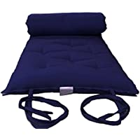 Brand New Queen Size Navy Traditional Japanese Floor Futon Mattresses, Foldable Cushion Mats, Yoga, Meditaion 60 Wide X 80 Long