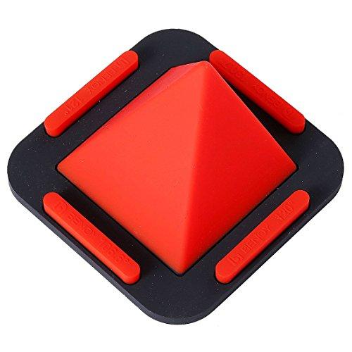 TOOGOO(R) Soporte de telefono de piramide, Soporte del telefono celular de escritorio Soporte universal de silicona portatil para Telefonos inteligentes y Tabletas (Azul) Rojo