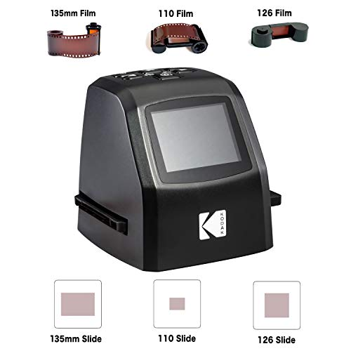 KODAK Mini Digital Film & Slide Scanner – Converts 35mm, 126, 110, Super 8 & 8mm Film Negatives & Slides to 22 Megapixel JPEG Images – Includes - 2.4 LCD Screen – Easy Load Film Adapters by Kodak (Image #8)