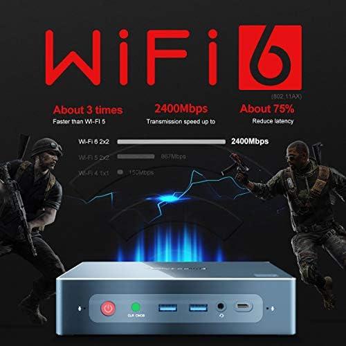 BEELINK GT-R MINI PC WINDOW 10 PRO AMD RYZEN 5 3550H (2.1UP TO 3.7GHZ) 16GB RAM 512GB SSD 1TB HDD, WIFI 6, BT 5.0 HIGH PERFORMANCE BUSINESS OFFICE GAMER 4K COMPUTER DUAL HDMI, DP, TYPE-C