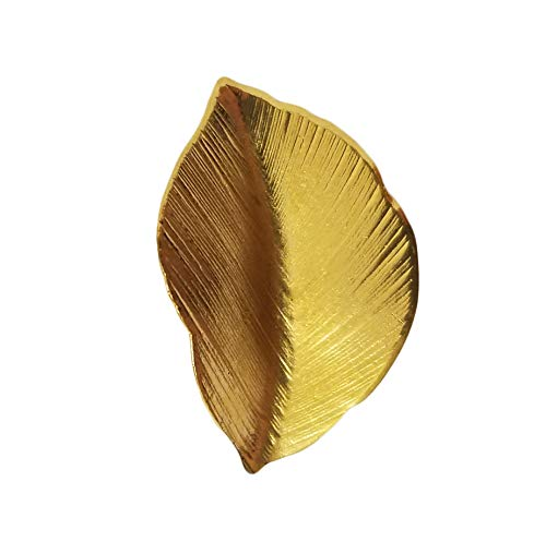 (Gold Tone Metal Dimensional Leaf Leaves Craft Accents Jewelry Findings (Pack of 12))