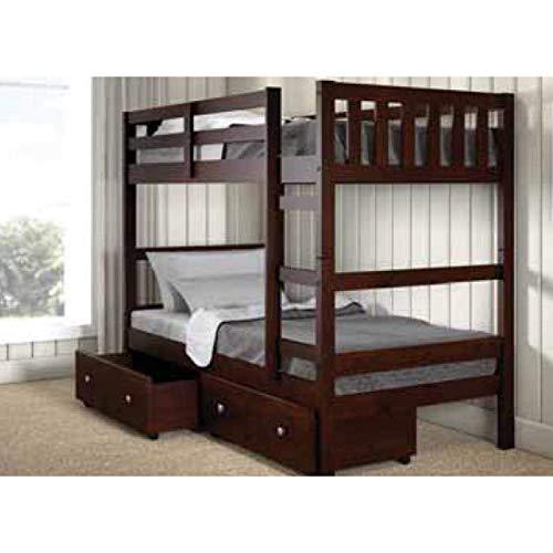 Donco Kids 1566-TTCP_505-CP Austin Bunk Bed, Twin/Twin, Dark Cappuccino ()