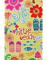 Summer Fun Hit The Beach Vinyl Flannel Back Tablecloth (52