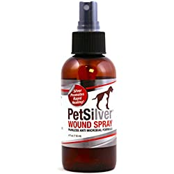 PetSilver 50 ppm Wound Spray with New Chelated Silver for Cats, Dogs and Horses
