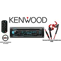 Kenwood KDC-X301 eXcelonCD Receiver with Red 800 Series Kenwood Headphones KH-SR800R and a FREE SOTS Air Freshener