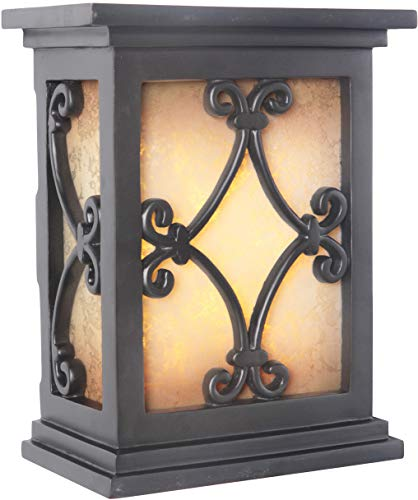 Craftmade ICH1515-BK Illuminated Chime System Hand-Carved Scroll Lighted LED Door Chime, Black (10.25