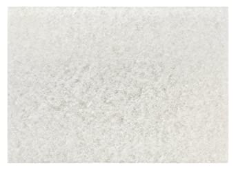 "3M White Super Polish Pad 4100, 12"" x 18"" Floor Polish Pad, Machine Use (Case of 20)"