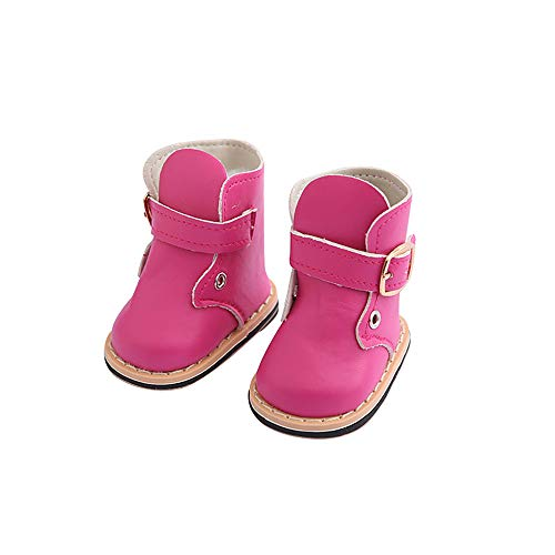 - Kariwell Doll Shoes for 18 Inch Doll Cute Fashion Boots for 18 Inch Logan Doll Accessory Girl Toy (Hot Pink)