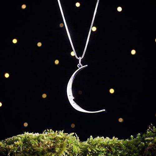 Moon and Face Charm Pendants 22mm Antique Silver 2 Moon Charms