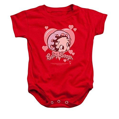 Sons of Gotham Betty Boop Baby Heart Baby Onesie 6m
