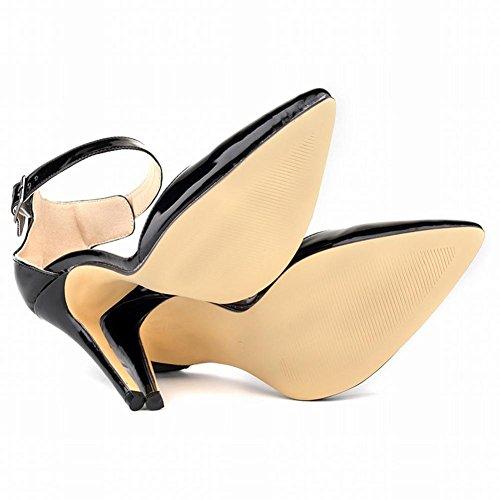 Schuhe und Absatz mit feinem Schwarz Nachtclub hohem Flache Damen Spitzenrock YC L Farbe Ynqxw4EfS