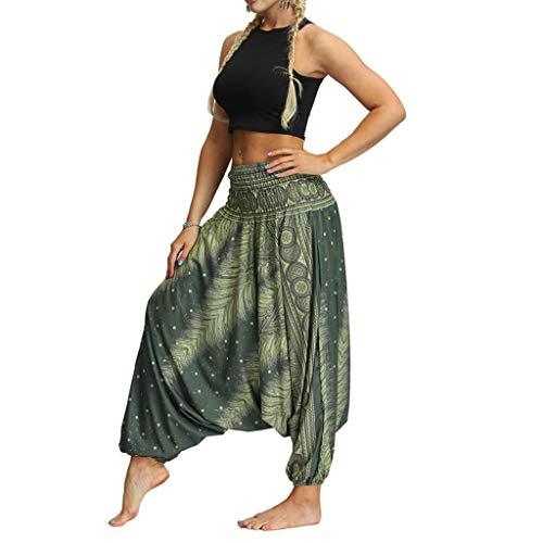 Women Casual Loose Yoga Pants Trousers Baggy Boho Aladdin Jumpsuit Pants -