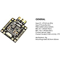 Usmile Matek Systems FCHUB-6S PDB Hub Power Distribution Board 5V & 10V BEC Built-in 184A Current Sensor for Martian Alien Carbon Fiber quadcopter X frame