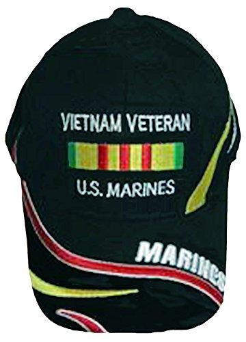 U.S. MARINE CORPS USMC VIETNAM VETERAN HAT CAP BLACK US MARINES (Marine Corps Retired Ball Cap)