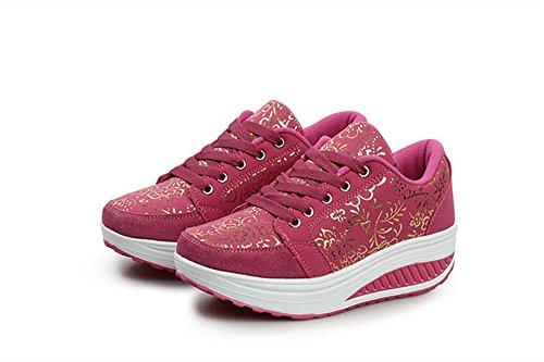 Balançoire Rouge choc Eagsouni® Fashion Femme Baskets Fitness Sport Running Lacet Anti Chaussures Gym Casual De rf716fnqw