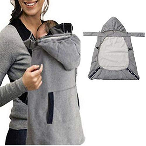 BABYCARE Warm Wrap Sling Baby Carrier Windproof Baby Backpack Blanket Carrier Cloak Grey Funtional Winter Cover