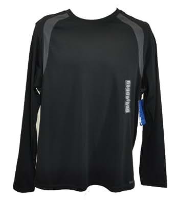 Reebok Mens Breathable Long Sleeve Athletic Shirt Medium Black/Gray