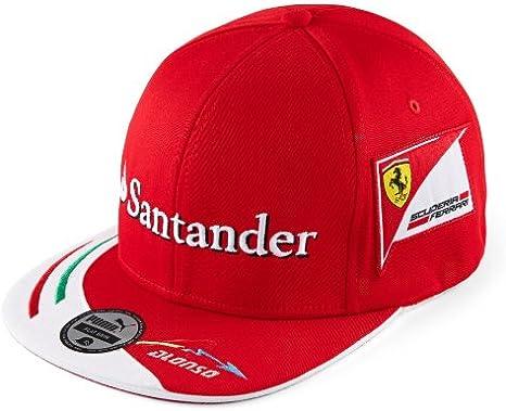 Puma - Gorra de Ferrari (visera plana, gorra de Fernando Alonso ...