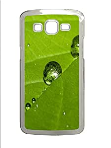 Samsung G7106 CaseWater Drops On The Green Leaf PC Custom Samsung G7106 Case Cover Transparent