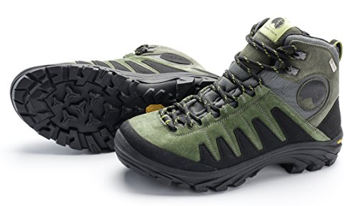 Mishmi Takin Kameng Mid Event Waterproof Hiking Boot (EU 42 / US Women 10.5 / US Men 9.5, Moss - Mens Green Moss