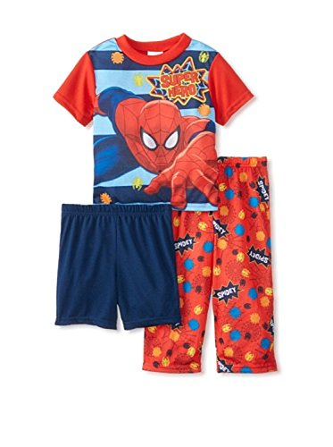 Spiderman Boys' 3 Piece Pajama Set (Toddler/Kid) , PJ Size 3T