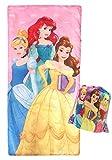 Jay Franco Disney Princess Trip Slumber Sack - Cozy & Warm Kids Lightweight Slumber Bag/Sleeping Bag - Featuring Ariel, Belle, and Cinderella
