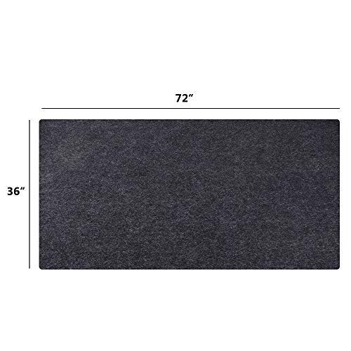 Under the Grill Mat,BBQ Grilling Gear for Gas/Electric Grill–Absorbent Grill Pad Lightweight Washable Floor Mat to Protect Decks and Patios from Grease Splatter and Other Messes (Grill Mat 36'' x 72'') by CONVELIEF (Image #6)