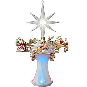 hallmark 2015 here comes santa claus tree topper magic cord - Santa Christmas Tree Topper