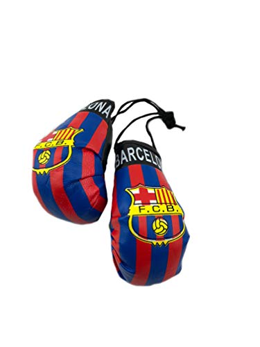 Barcelona Car - Red Hat Ent Hanging Car Mirror Mini Boxing Gloves (Barcelona)