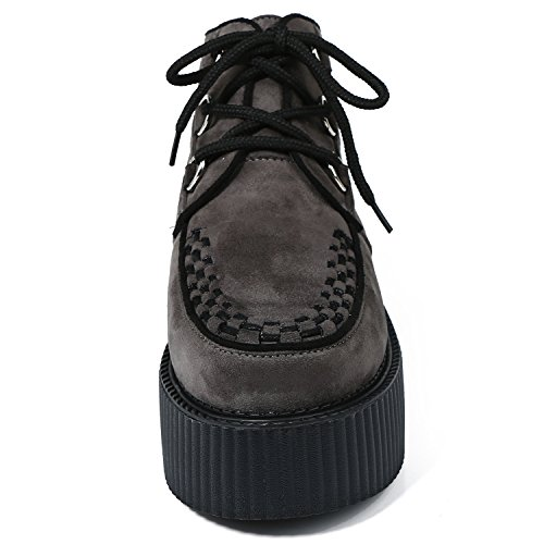 Creepers Chaussures Femmes RoseG Cheville Lacets Gothique Punk Bottes Plateforme O1xUTwqzZ