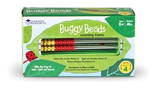 Learning Resources Buggy Beads Counting Frame, Set of 4