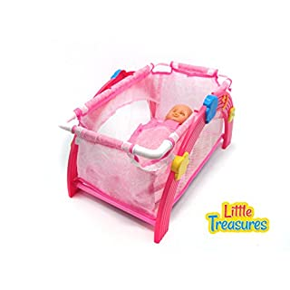Best Choice Baby Doll Cradle - Crib Furniture Set - The Set Includes a Crib Pillow and Blanket - Great Toy for Your Little Mothers Helper!