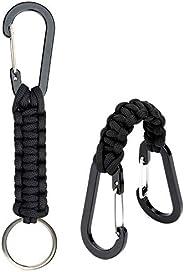 EOTW 2 Pack Carabiner Fence Hooks, Multi-Function Car Seat Headrest Hooks Keychain Carabiner to Hang Shopping