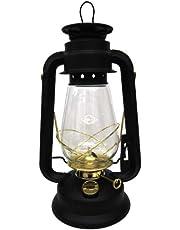 V&O 210-21000 Pathfinder Brass Trim Oil Lantern, Black