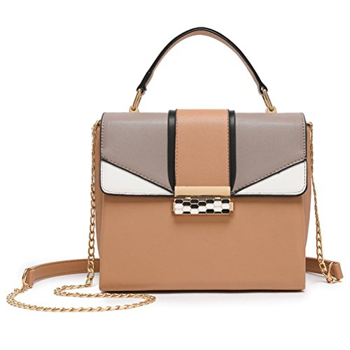 Bag Khaki Shoulder Sygoodbuy Woman One Shoulder Persimmon Size Size color Bag Chain Leather Small Casual Bag Elegant 7n5qAdqr