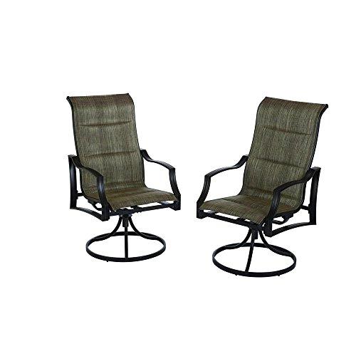(Hampton Bay Statesville Padded Sling Patio Lounge Swivel Chairs (2-Pack))