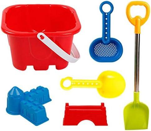 6セットの子供ビーチ玩具セット砂のおもちゃのショベルツールサンドボックスアクセサリー
