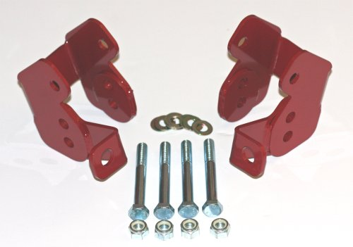 Founders Performance 23881R Lower Control Arms Relocation Brackets Red - Car Set