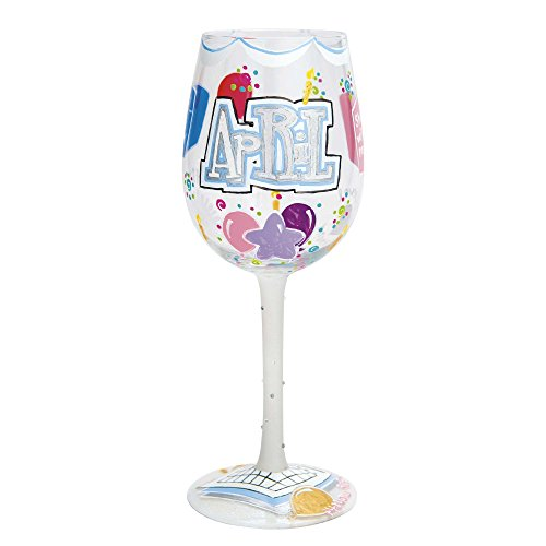 Lolita Birthday Month Wine Glass with Westwood Gourmet Bottle Opener (Happy April) (Glass Wine Lolita Grandma)