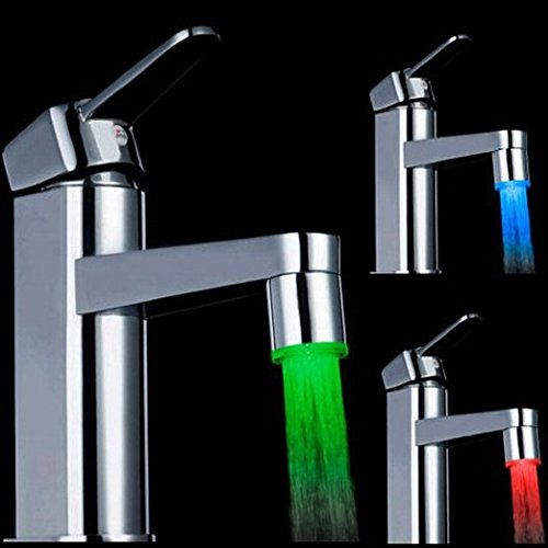 IllumiSink: Sink Light Faucet Attachment (Changes Color by Temperature) NEW VERSION FIXES ALL OLD ISSUES & INCLUDES MORE FAUCET ADAPTERS TO FIT MORE SINKS (ALL UNITS AS OF JULY 21 2017)